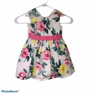 Carters white pink floral spring dress size 18M